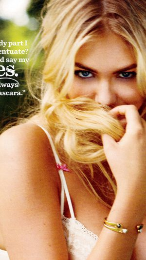 Kate Upton Magazine Shy Face Girl Art iPhone 7 wallpaper