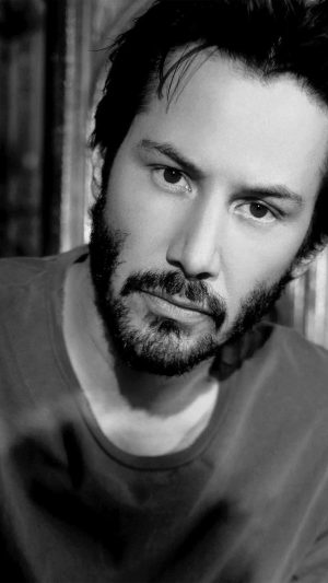Keanu Reeves Bw Dark Actor Celebrity iPhone 7 wallpaper