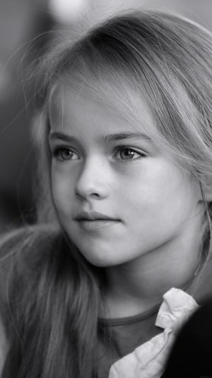 Kristina Pimenova Cute Girl Model Bw Dark iPhone 7 wallpaper
