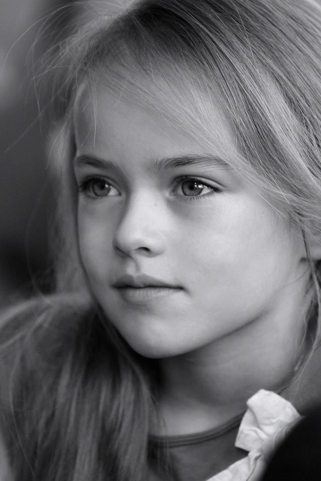 Kristina Pimenova Cute Girl Model Bw Dark iPhone wallpaper