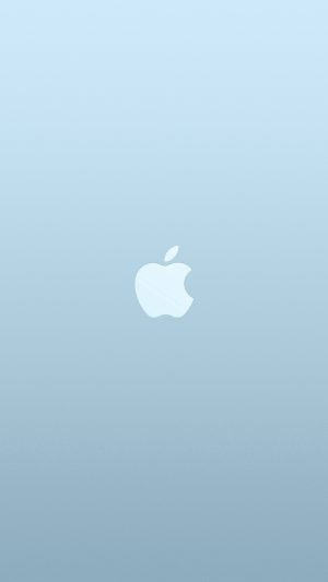 Logo Apple Blue White Minimal Illustration Art iPhone 7 wallpaper