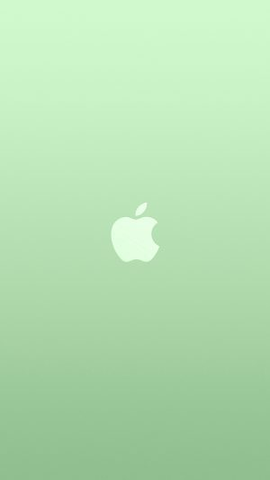 Logo Apple Green White Minimal Illustration Art Color iPhone 7 wallpaper