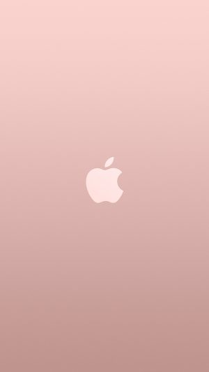 Logo Apple Pink Rose Gold White Minimal Illustration Art iPhone 7 wallpaper