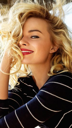 Margot Robbie Smile Celebrity Photo iPhone 7 wallpaper