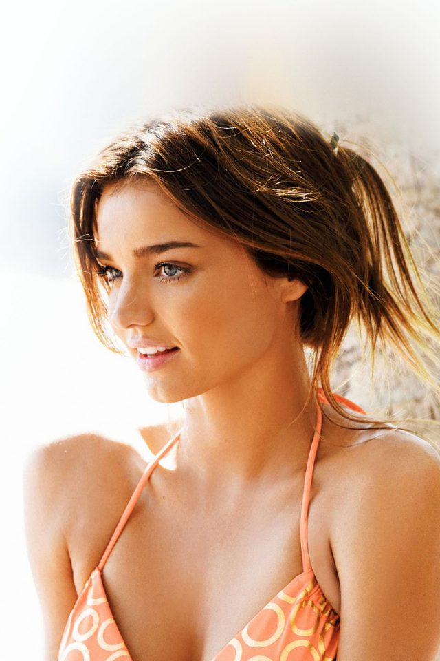 Miranda Kerr Bikini Sunny Day Model iPhone wallpaper