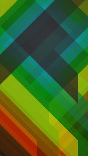 Multicolored Polygons Green Pattern Art Abstract iPhone 7 wallpaper