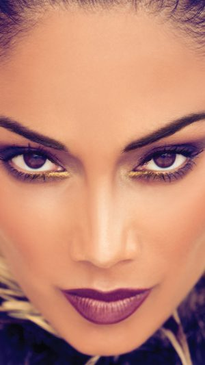 Nicole Scherzinger Artist Face iPhone 7 wallpaper