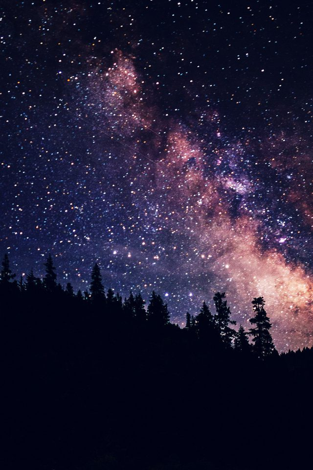 Night Sky Dark Space Milkyway Star Nature iPhone wallpaper