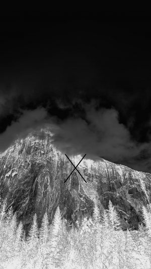 Os X Yosemite Mac Apple Dark Night iPhone 7 wallpaper