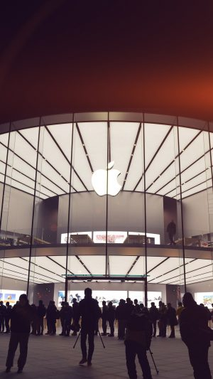 Photo Apple Store Event City Architecture Flare iPhone 7 wallpaper