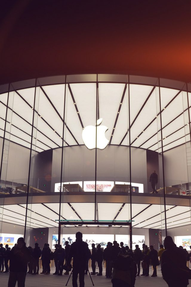 Photo Apple Store Event City Architecture Flare iPhone wallpaper