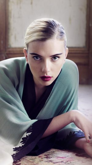 Scarlett Johansson Actress Girl Bed Model iPhone 7 wallpaper