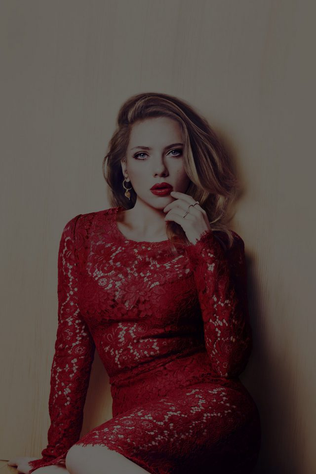 Scarlett Johansson Dark Celebrity Sexy Red iPhone 7 wallpaper