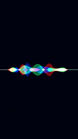 Siri Dark Rainbow Black Art Apple Pattern iPhone 7 wallpaper