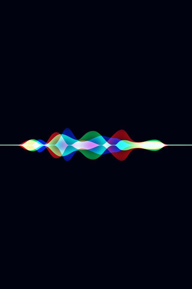 Siri Dark Rainbow Black Art Apple Pattern Iphone 7 Wallpaper