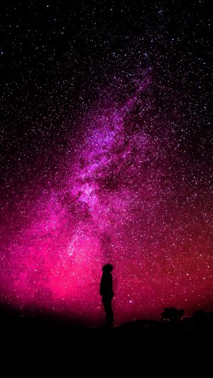 Sky Galaxy Milkyway Space Night Red iPhone 7 wallpaper