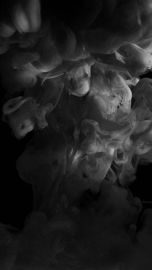 Smoke Dark Bw Abstract Fog Art Illust iPhone 7 wallpaper