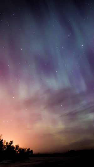 Space Aurora Night Sky iPhone 7 wallpaper