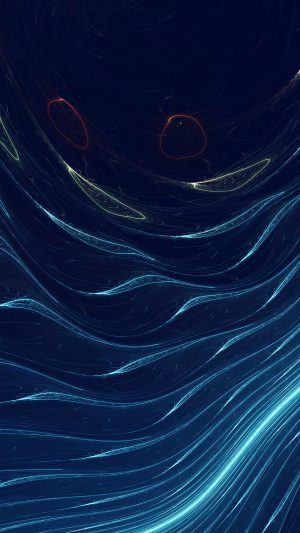Space Line Curve Blue Pattern iPhone 7 wallpaper