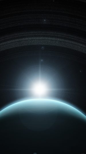 Space Planet Blue Interstellar Light iPhone 7 wallpaper