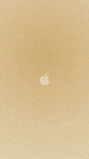 Tiny Apple Gold Minimal iPhone 7 wallpaper