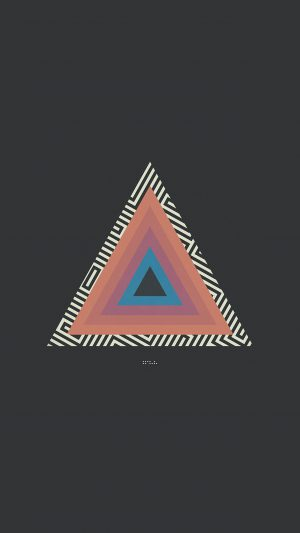 Tycho Triangle Abstract Art Illustration iPhone 7 wallpaper