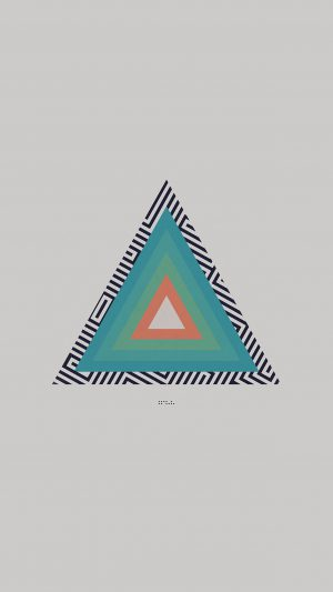 Tycho Triangle Abstract Art Illustration White iPhone 7 wallpaper