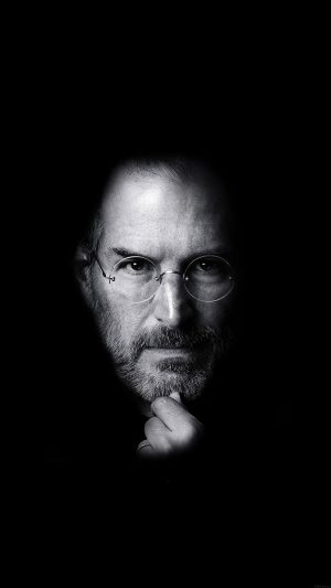 Wallpaper Steve Jobs Face Apple iPhone 7 wallpaper