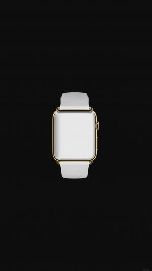 White Dark Apple Watch Simple Art iPhone 7 wallpaper