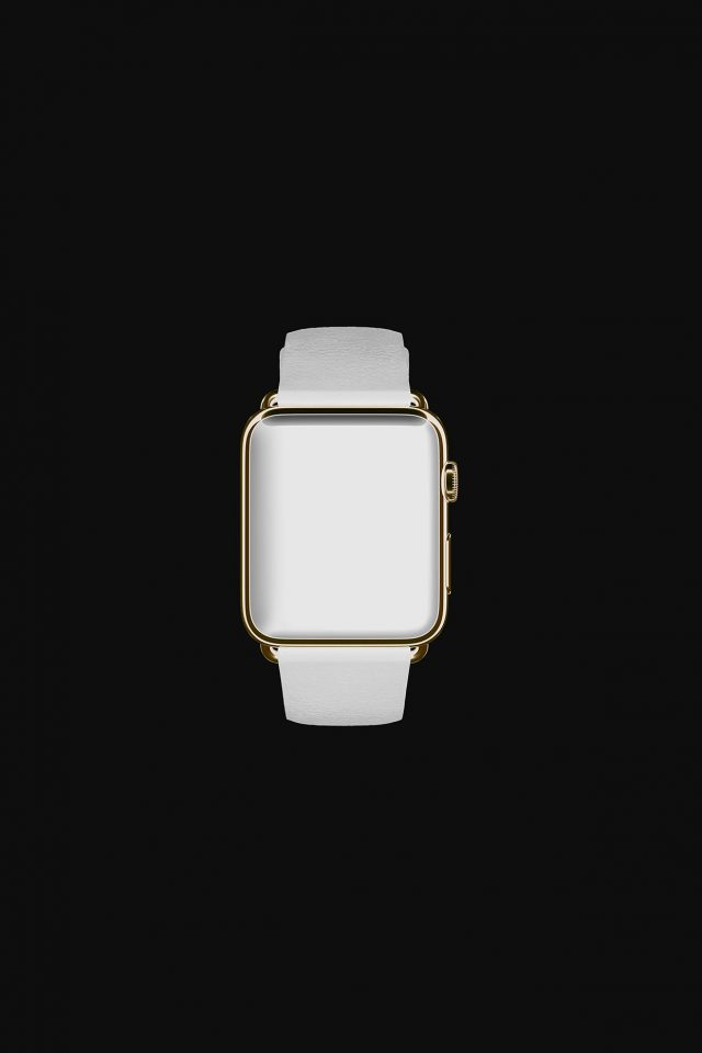 White Dark Apple Watch Simple Art iPhone wallpaper