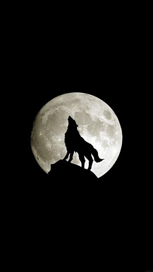 Wolf Howl Animal Dark Minimal Nature iPhone 7 wallpaper