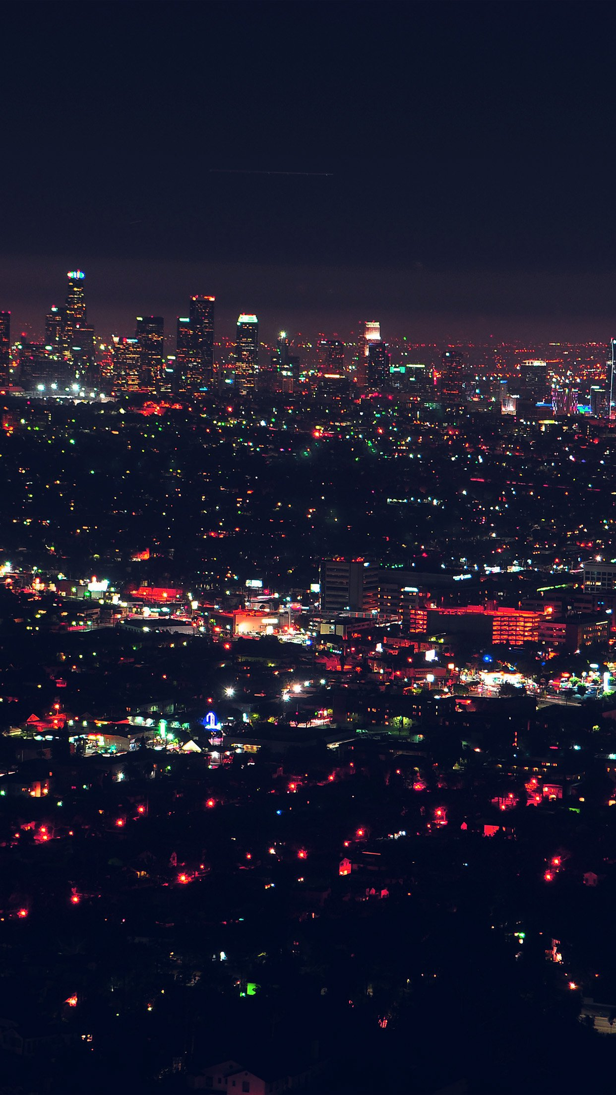 City View Night Light Red iPhone wallpaper