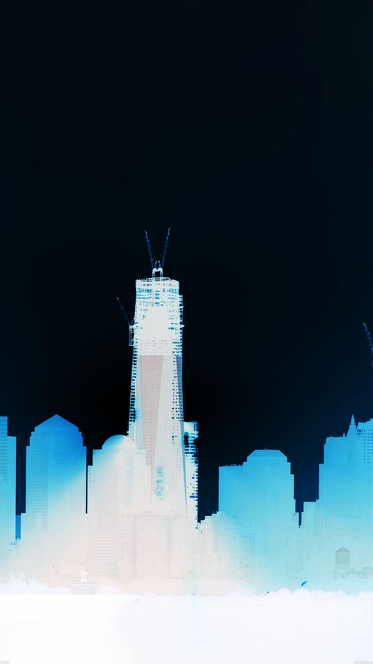 Construction Sky Line In Blue City Day iPhone wallpaper