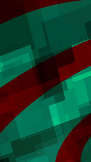 Art Green Red Block Angle Abstract Pattern iPhone 7 wallpaper