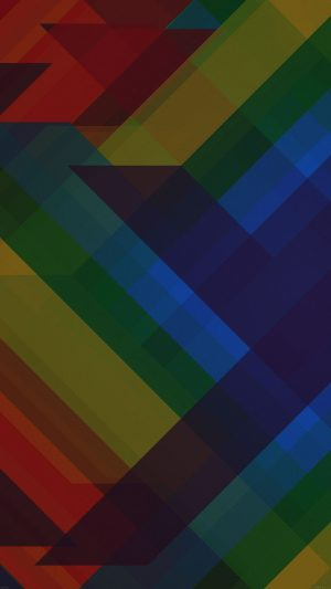 Multicolored Polygons Dark Pattern Art Abstract iPhone 7 wallpaper