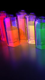 Colorful water-bottles